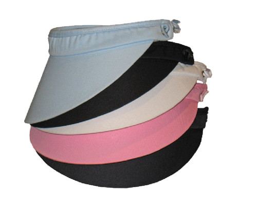 Polycotton Roll-Up Visor - Wallace Headwear e9316ca7c8eb