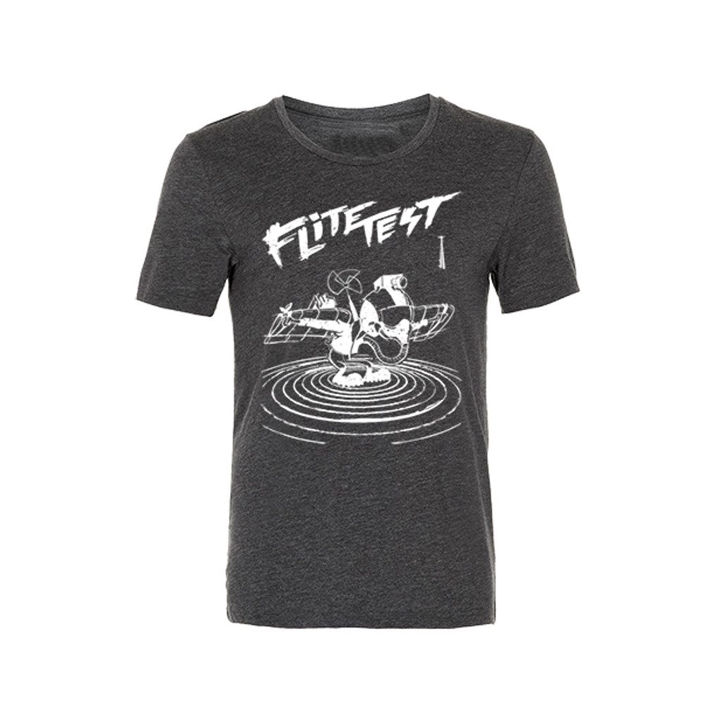 Flite Test Gremlin Illustration T shirt - Charcoal