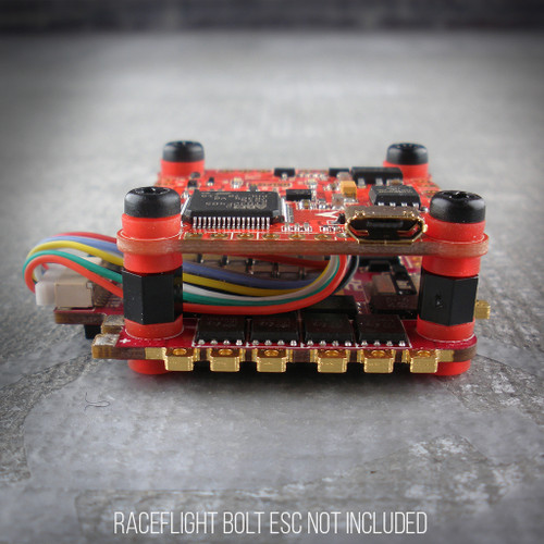 The new version 3 of the RaceFlight Revolt Flight Controller is here! It connects easily with the new V2 RaceFlight Bolt 4-in-1 ESC to make a really powerful, ultra compact stack!