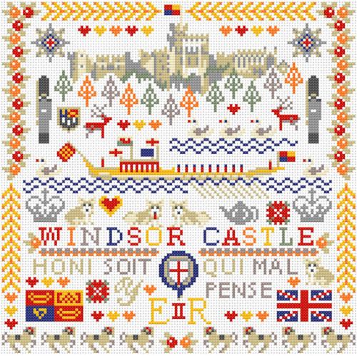 CROSS STITCH KIT 14ct AIDA Royal, Windsor Castle