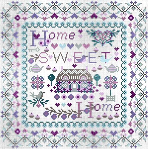 CROSS STITCH KIT 14ct AIDA Home Sweet Home