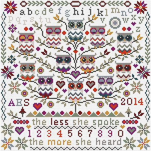 CROSS STITCH KIT 14ct AIDA Owls