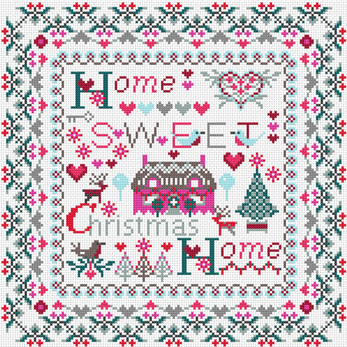 CROSS STITCH KIT 14ct AIDA Christmas, Home Sweet Christmas Home