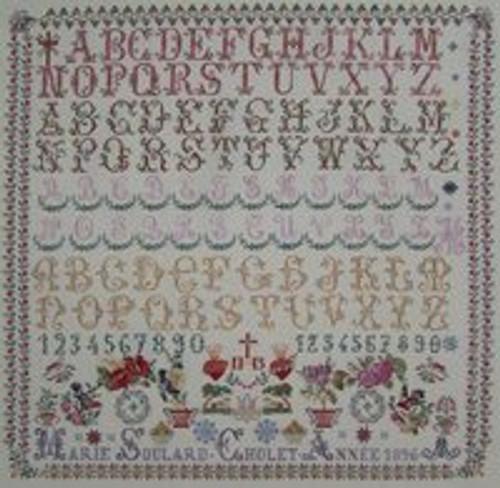 CHART PACK FRENCH SAMPLER MARIE SOULARD 1896