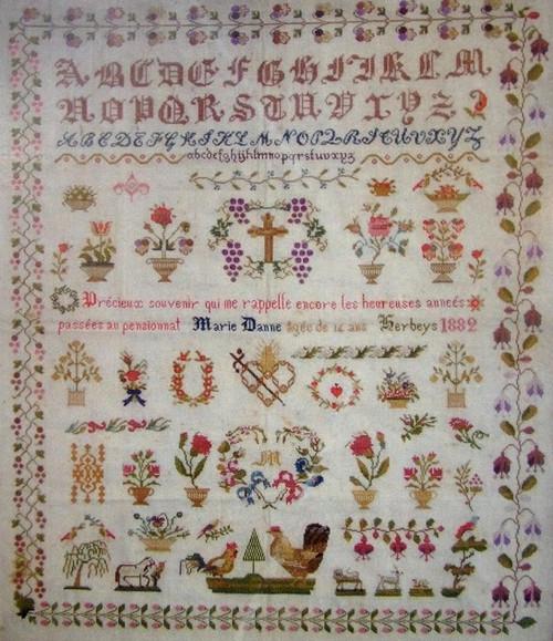 CHART PACK FRENCH SAMPLER MARIE DANNE 1896