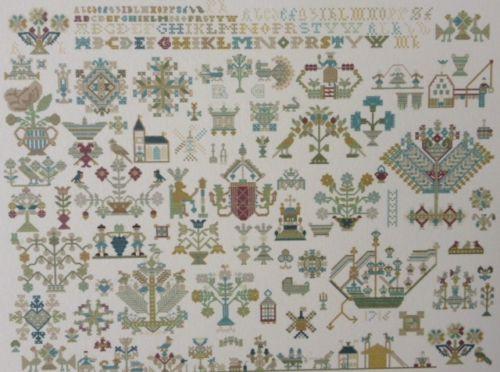 CHART PACK ANTIQUE DUTCH SAMPLER FRIESLAND 1716