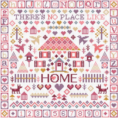 CROSS STITCH KIT 14ct AIDA No Place Like Home