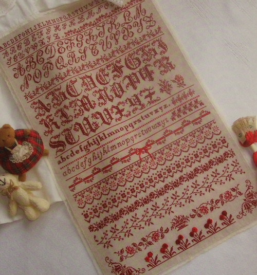 CHART PATTERN BOOKLET FRENCH SAMPLER Lettres Carmin