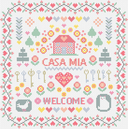 CROSS STITCH KIT 14ct AIDA Casa Mia (My House)