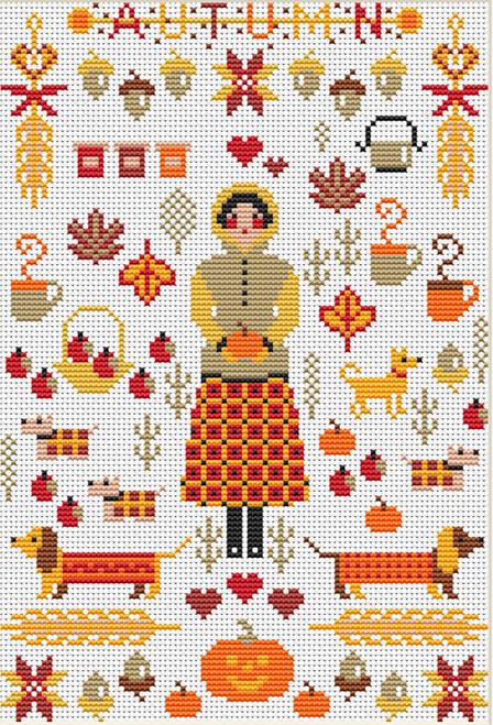 CROSS STITCH KIT 14ct AIDA Mini Season3 Autumn