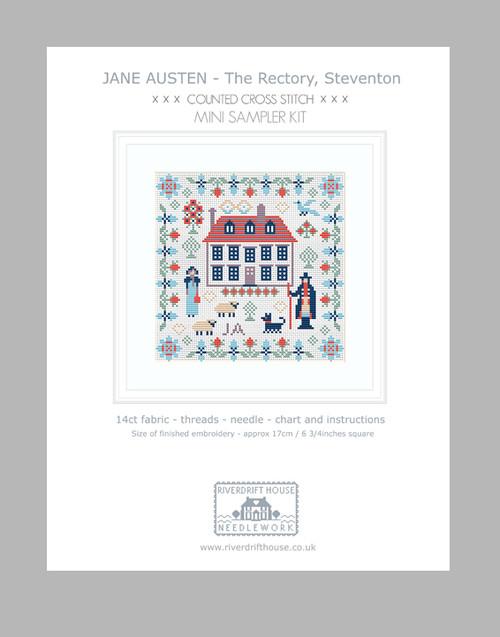 CROSS STITCH KIT 14ct Aida Mini Jane Austen Steventon
