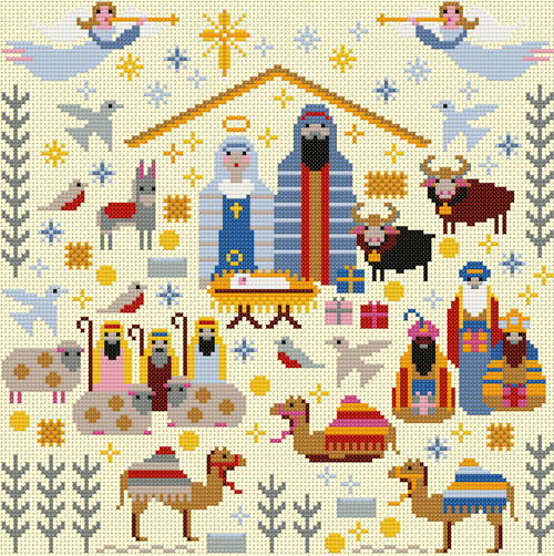 CROSS STITCH KIT 14ct AIDA Christmas Nativity