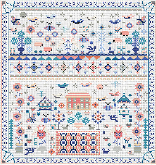 CROSS STITCH KIT 16 Count Aida Must Fly Sampler