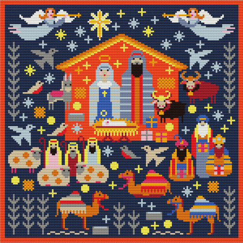 NATIVITY NEEDLEPOINT (Tapestry) KIT