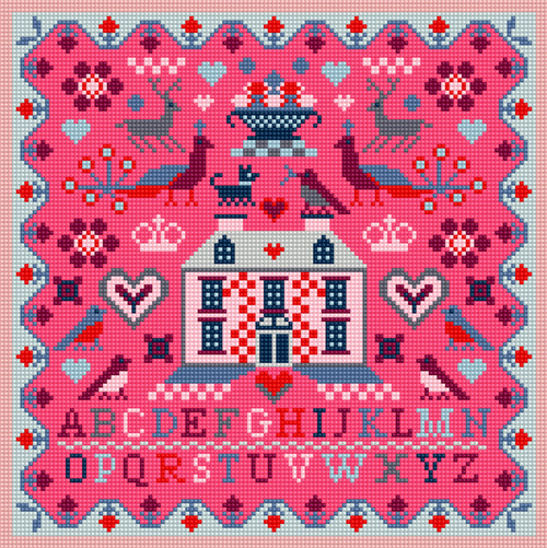 PINK HOUSE NEEDLEPOINT (Tapestry) KIT