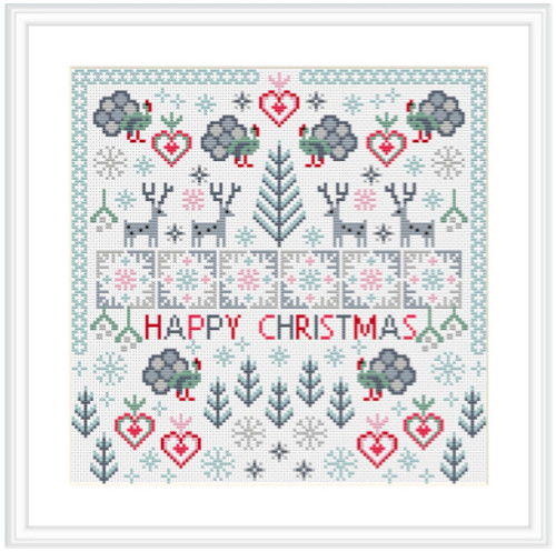 CROSS STITCH KIT 14ct AIDA Christmas, Christmas Turkeys