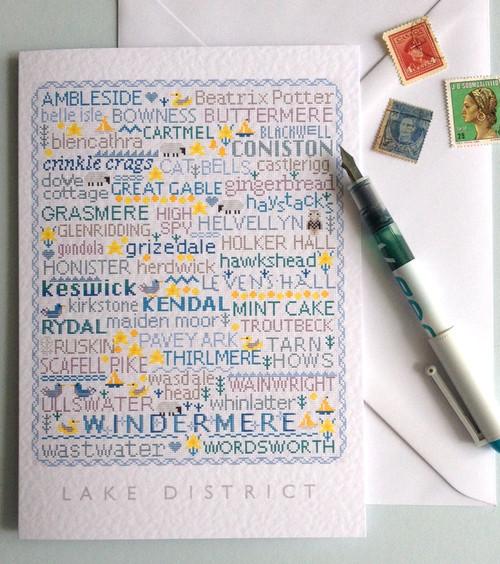 GREETINGS CARD Lake District Sampler