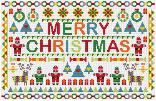 RIVERDRIFT CHART PACK Santa's Merry Christmas Sampler