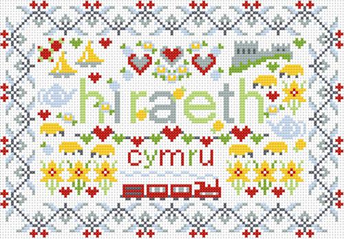 CROSS STITCH KIT 14ct AIDA Welsh, Little Welsh Hiraeth