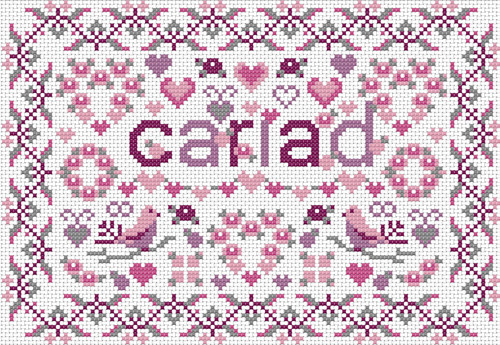 CROSS STITCH KIT 14ct AIDA Welsh, Little Welsh Cariad