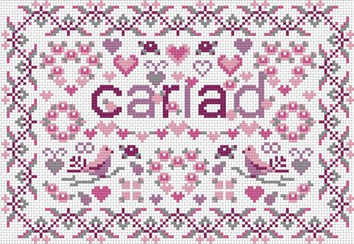 CROSS STITCH KIT 14ct AIDA Welsh, Little Welsh Cariad