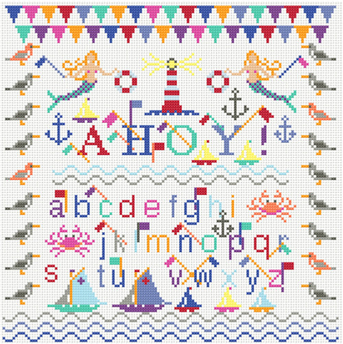 CROSS STITCH KIT 14ct AIDA Nautical Ahoy!