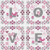 CROSS STITCH KIT 14ct AIDA Love Squares