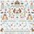 CROSS STITCH KIT 14ct AIDA Children's Little Bears Personalised