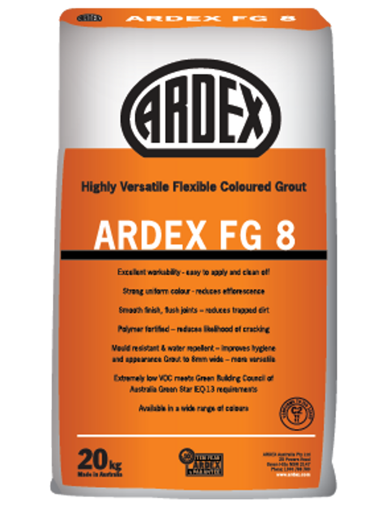 20Kg  Ardex  Grout FG8 - Misty Grey