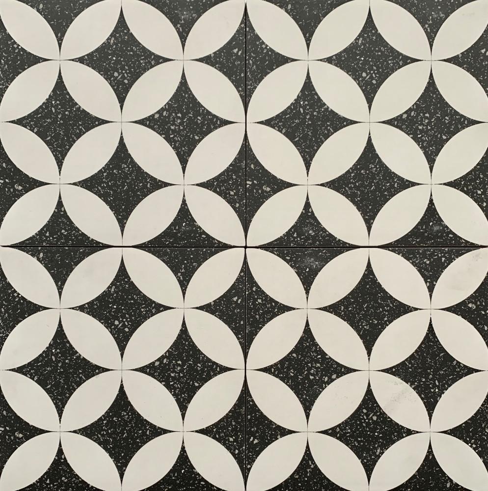 Sample of Andria Terrazzo Look Porcelain Tile 205mm