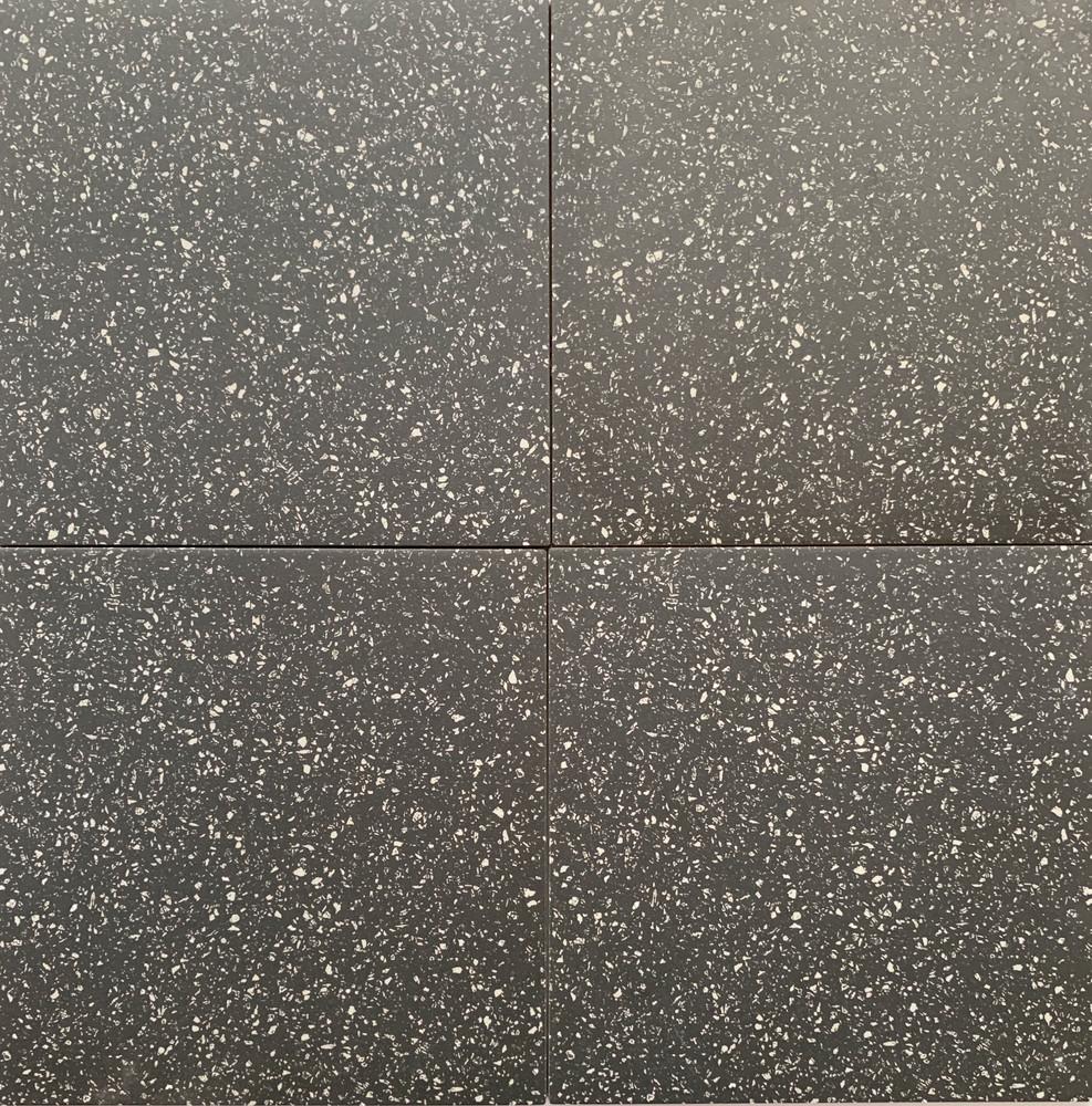 Sample of Black Terrazzo Look Porcelain Tile