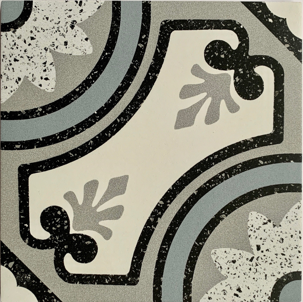 Sample of Bari Terrazzo Look Porcelain Tile 205mm