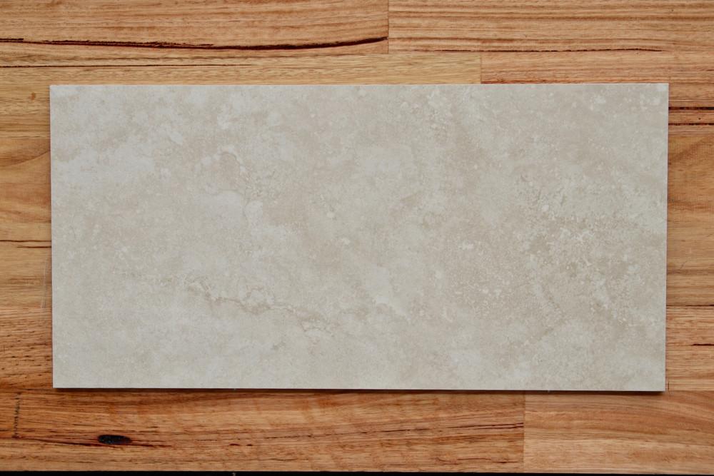 Travertine Ivory Porcelain Floor Tile 600x300mm