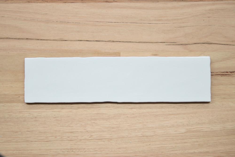 Sample of Barcelona  Matt White  Subway Tile 300x75mm