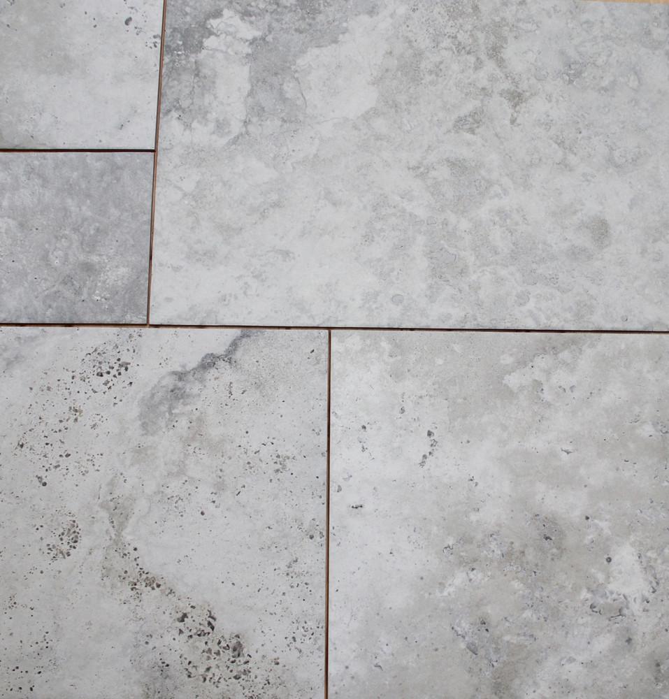 Bodrum Silver Travertine Porcelain Tile