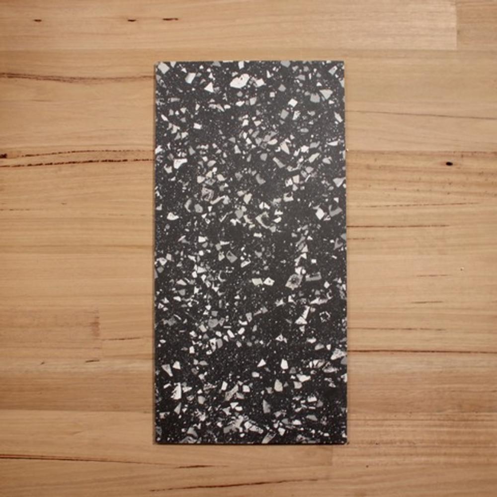 Terrazzo Graphite Porcelain Tile 600x300mm