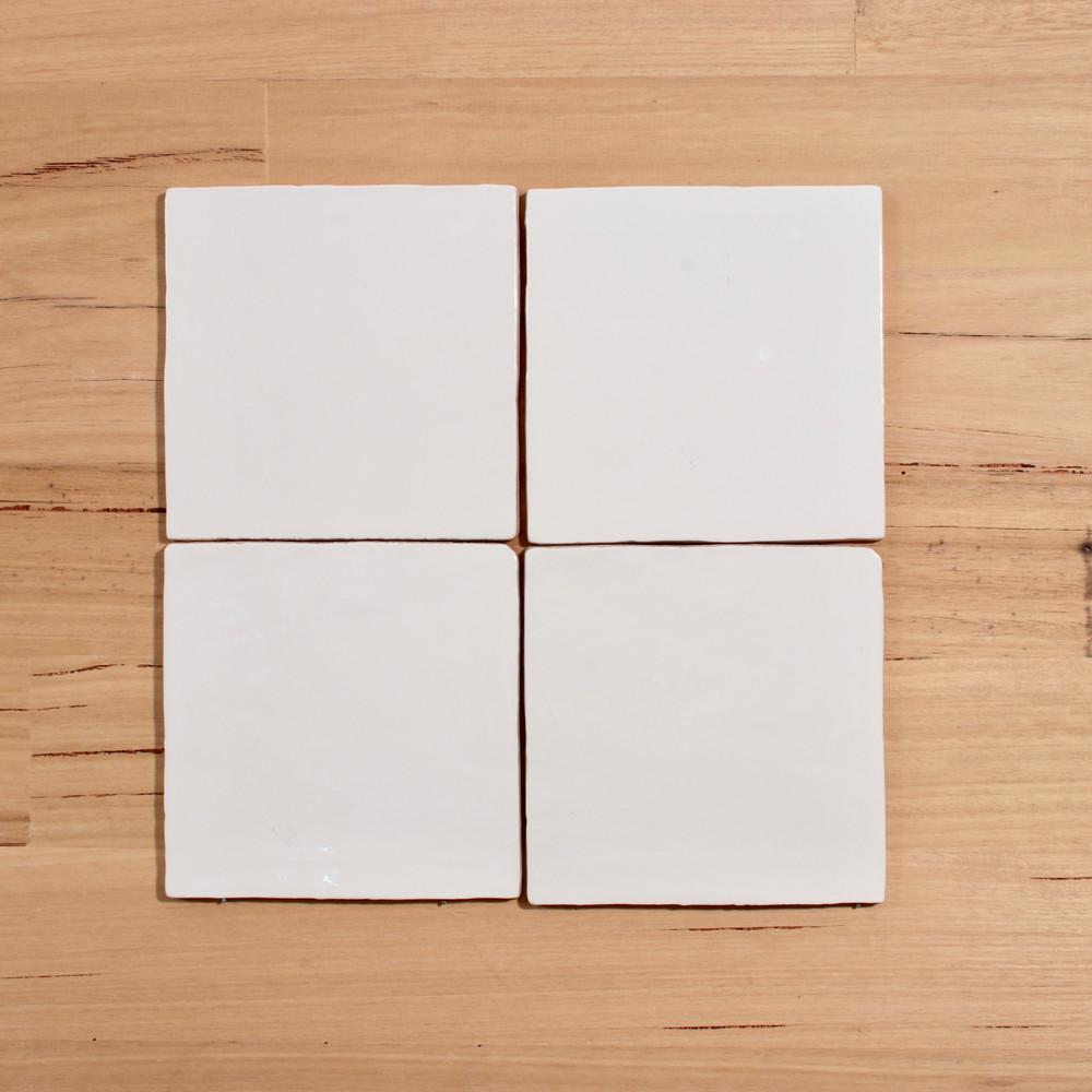 15cm Handmade Style Gloss White Wall Tile