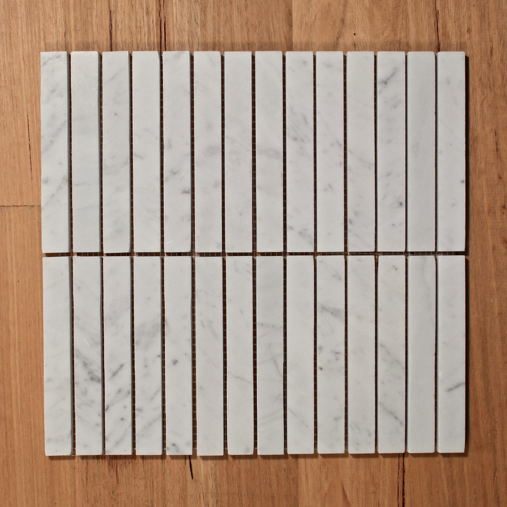 Carrara Marble Kit Kat  Mosaic Tile
