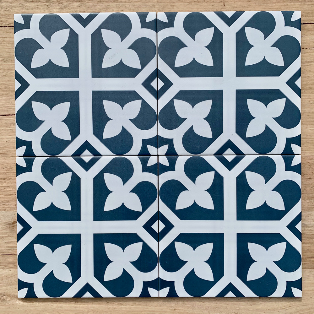 Bloom Navy Blue Wall and Floor Tile 200mm