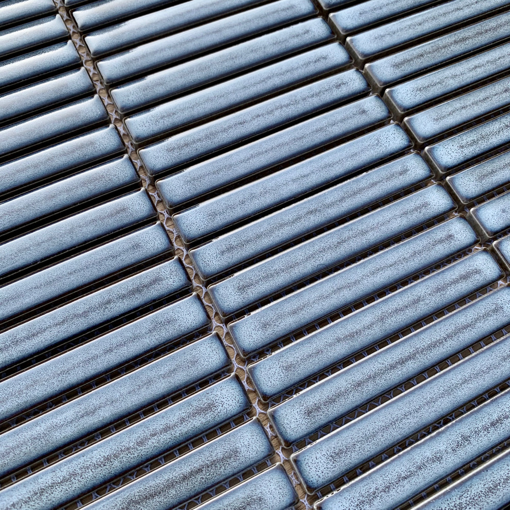 Small Kit Kat Steel Grey Gloss Mosaic