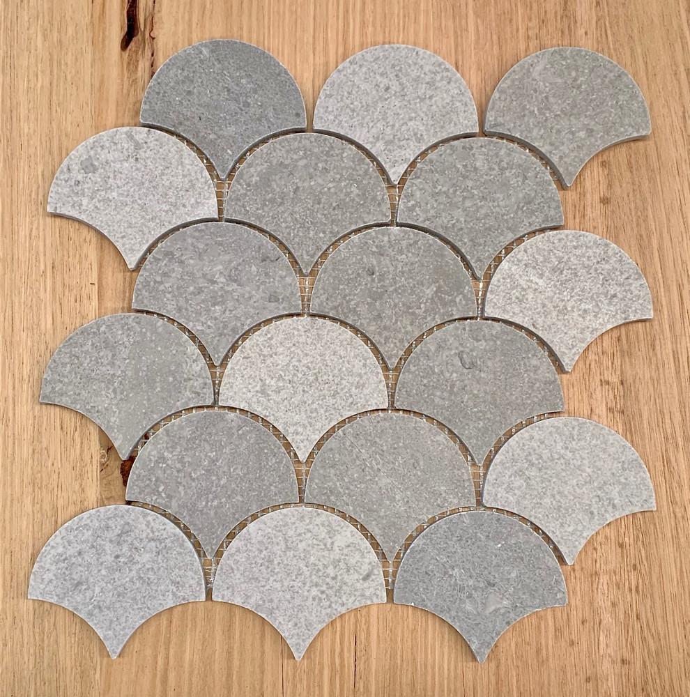 New Grey Marble Fan Mosaic