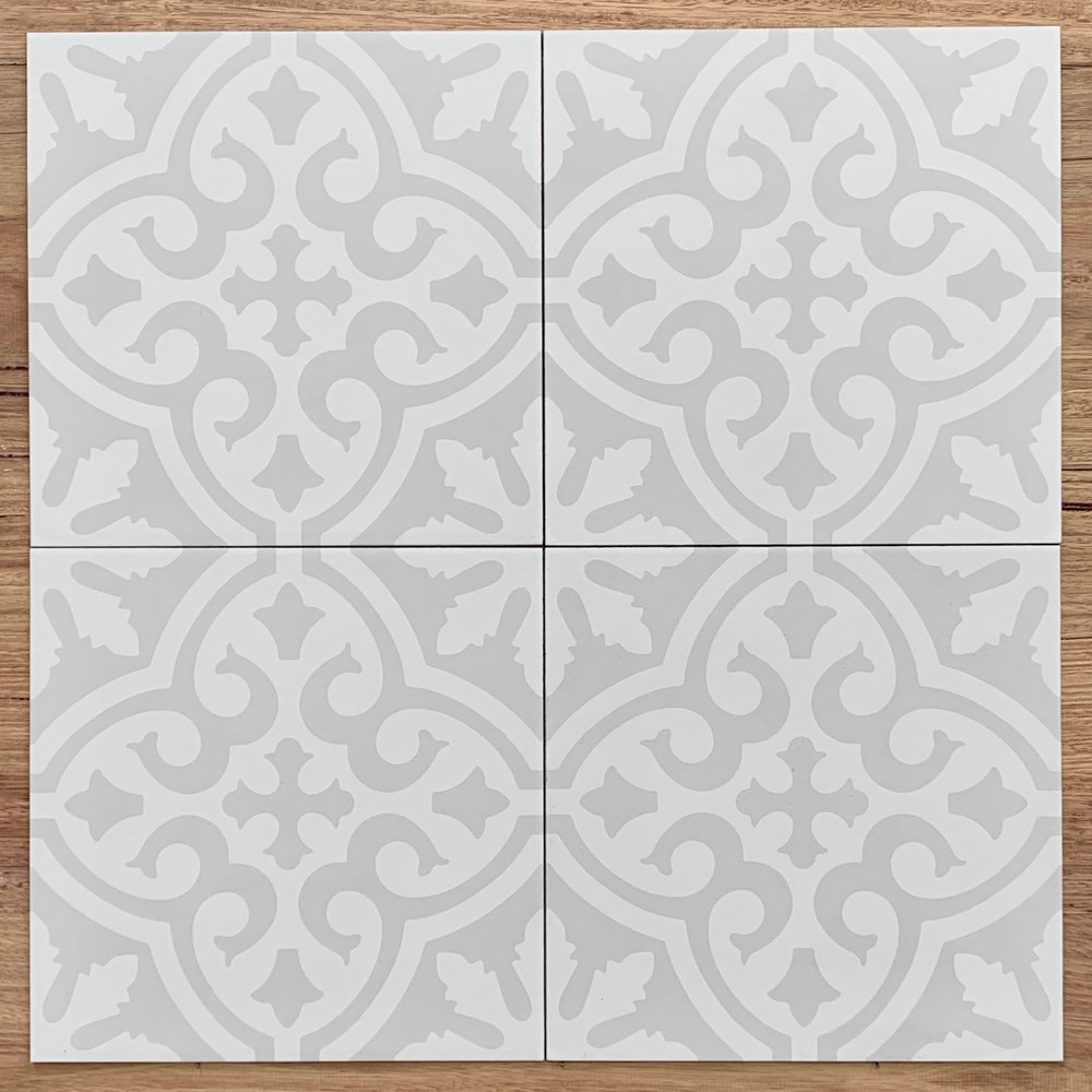 Pittwater Wall and Floor Tile in Soft Grey 300mm