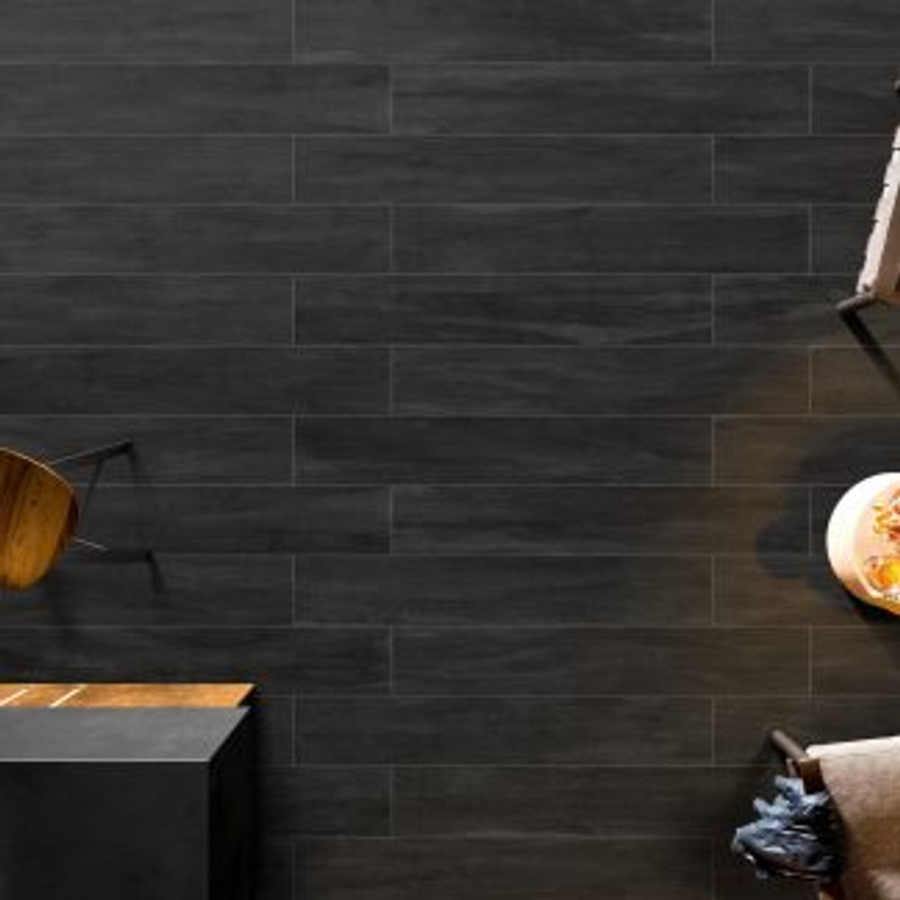 Ever Forest Charcoal Timber Look Tiles