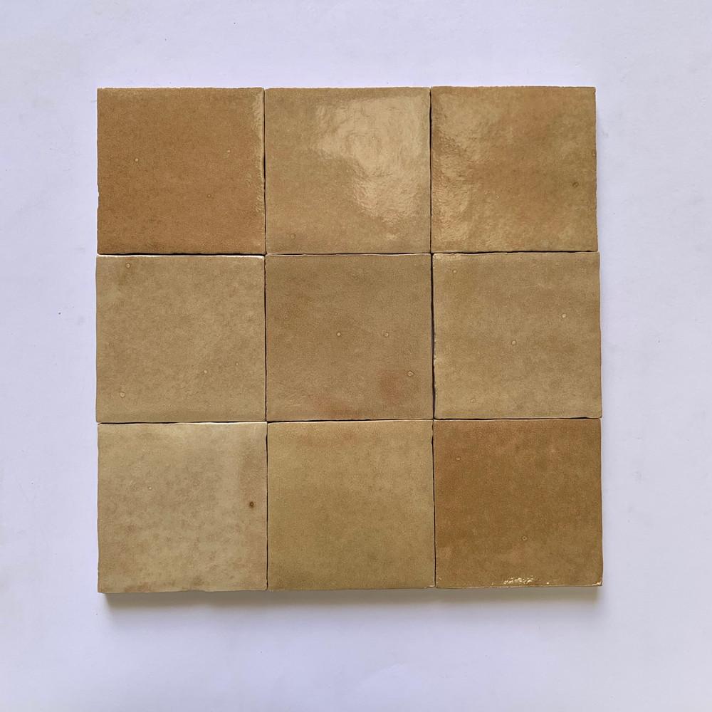Sample of Zellige Cammello Gloss 10cm