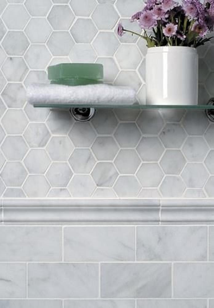 Carrara Marble Wall Tile 150x75mm