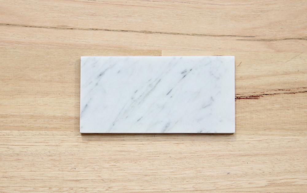 Cararra Marble Subway Tile 150x75mm