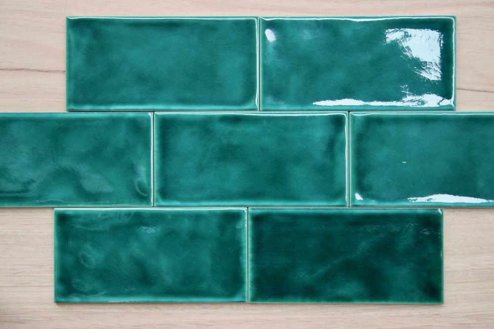 Tavella Dark Green Craquelle