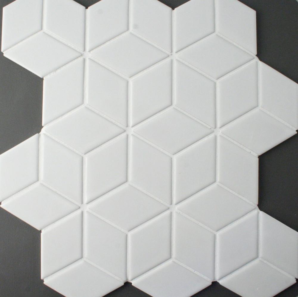 Cube White Gloss Mosaic