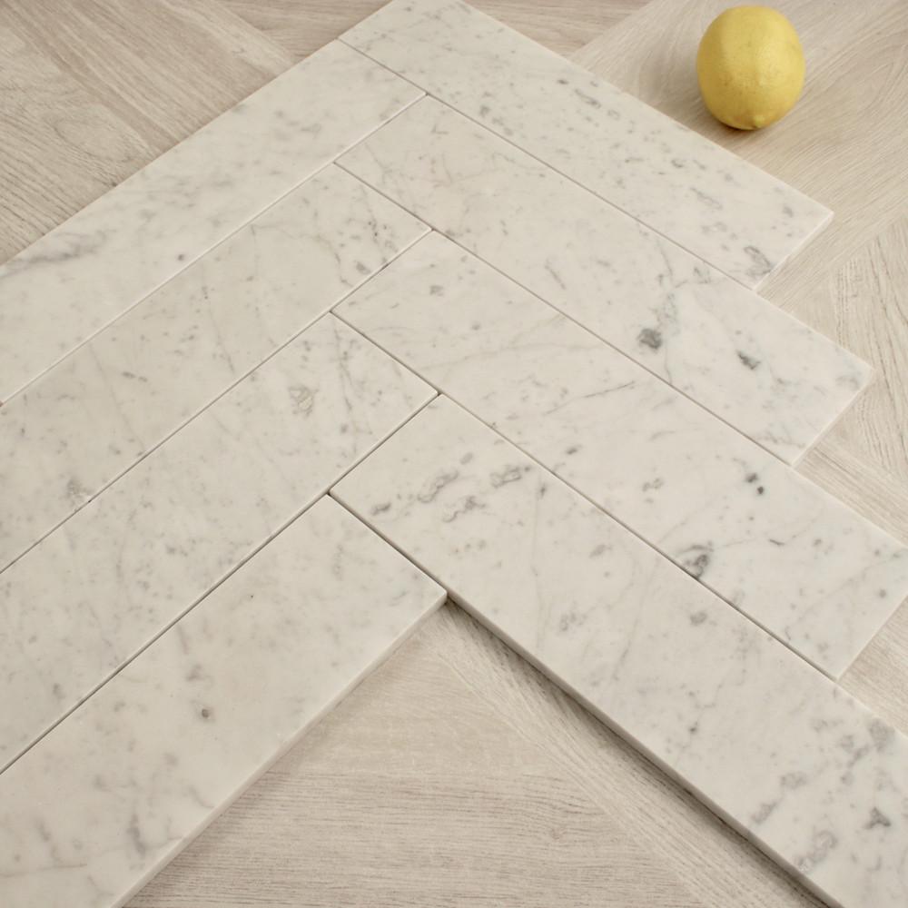 Carrara Marble  Subway Tile 300x75mm