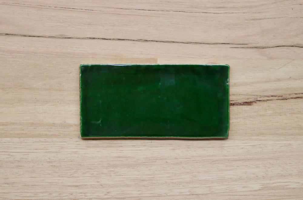 Barcelona Traditional Green Subway Tile 150x75mm